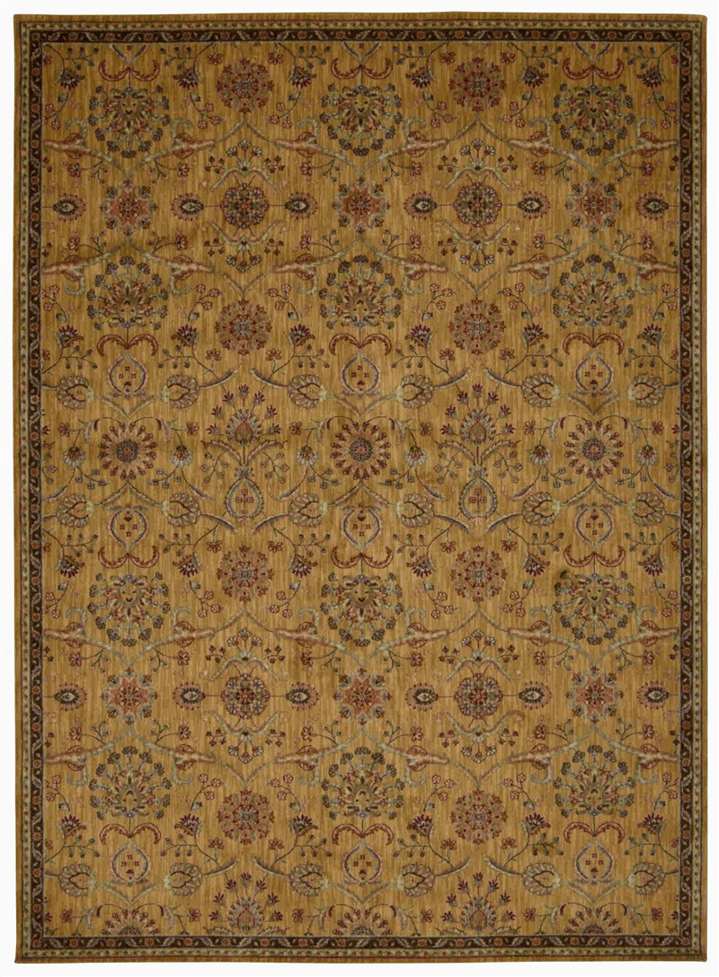 Ancient Times Machine Made Gold Area Rugs