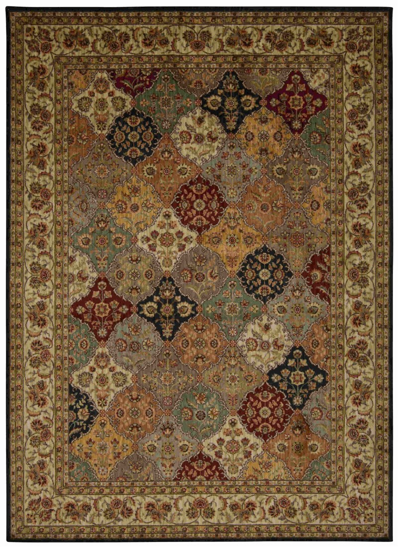 Ancient Times Machine Made Multicolor Area Rugs