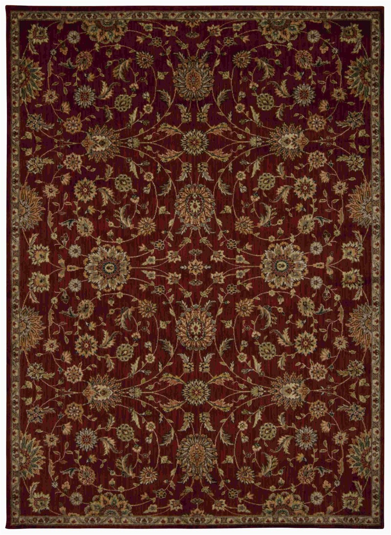 Ancient Times Machine Made Red Area Rugs