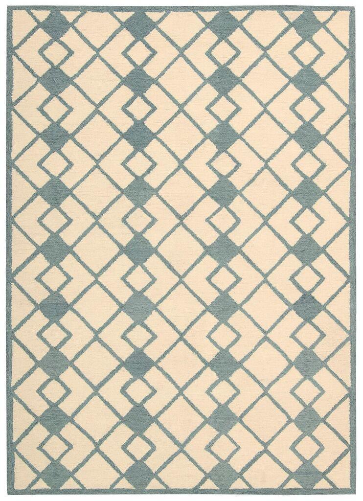 Decor Hand Tufted Ivory Blue Area Rugs