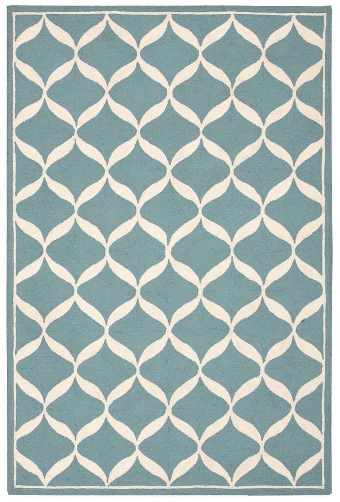 Decor Hand Tufted Aqua White Area Rugs