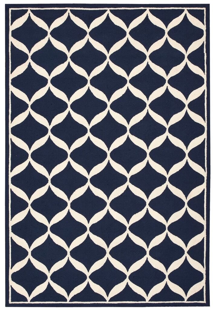 Decor Hand Tufted Navy White Area Rugs