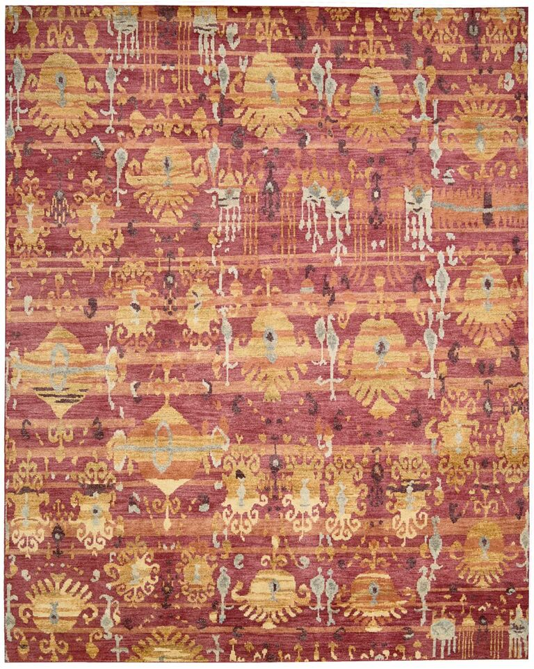 Dune Hand Knotted Flame Area Rugs