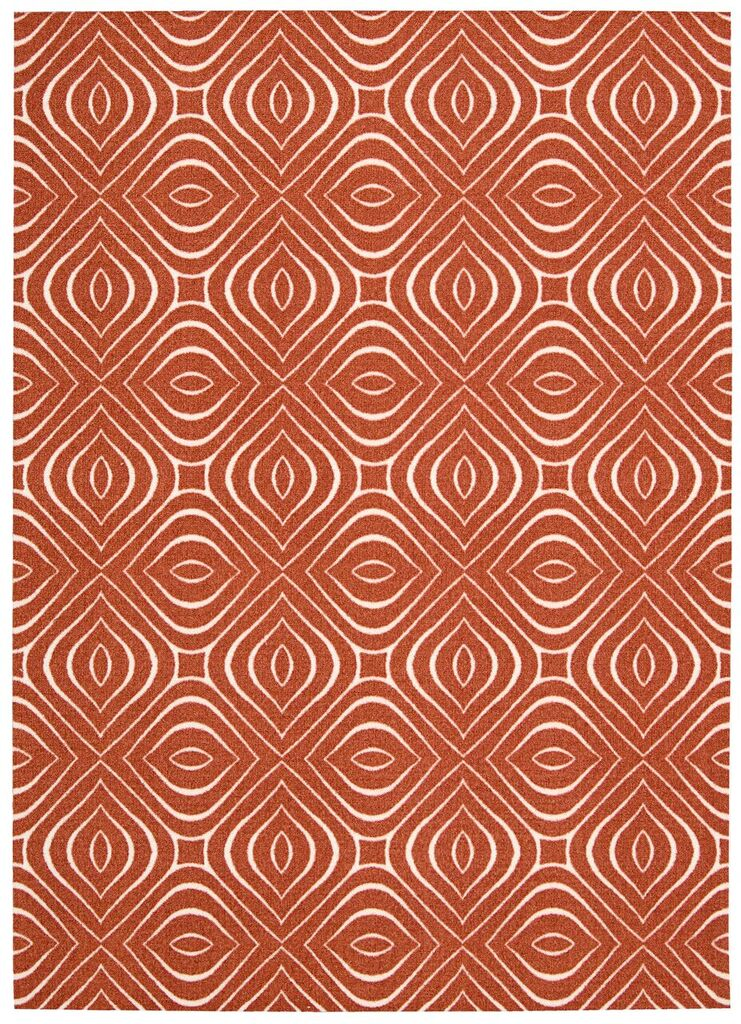 Enhance Machine Printed Paprika Area Rugs