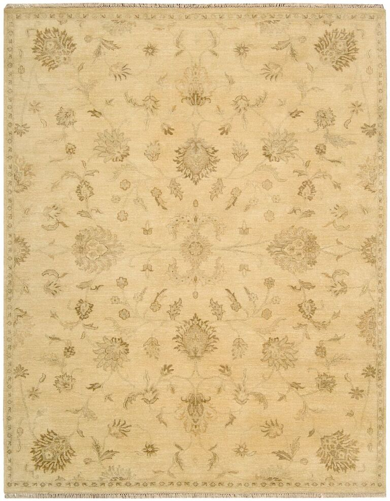 Grand Estate Hand Knotted Beige Area Rugs