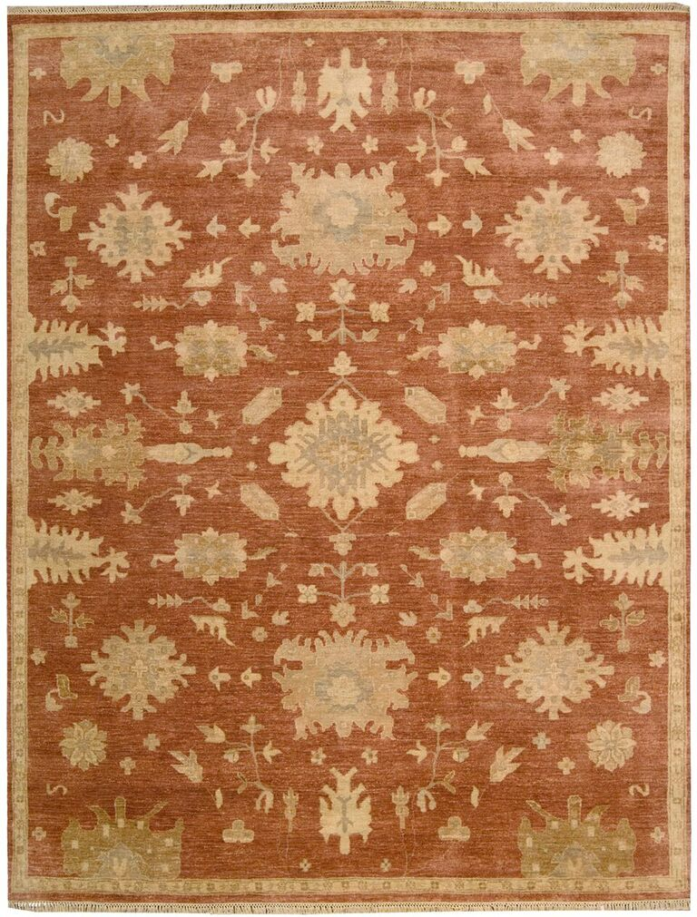 Grand Estate Hand Knotted Persimmon Area Rugs