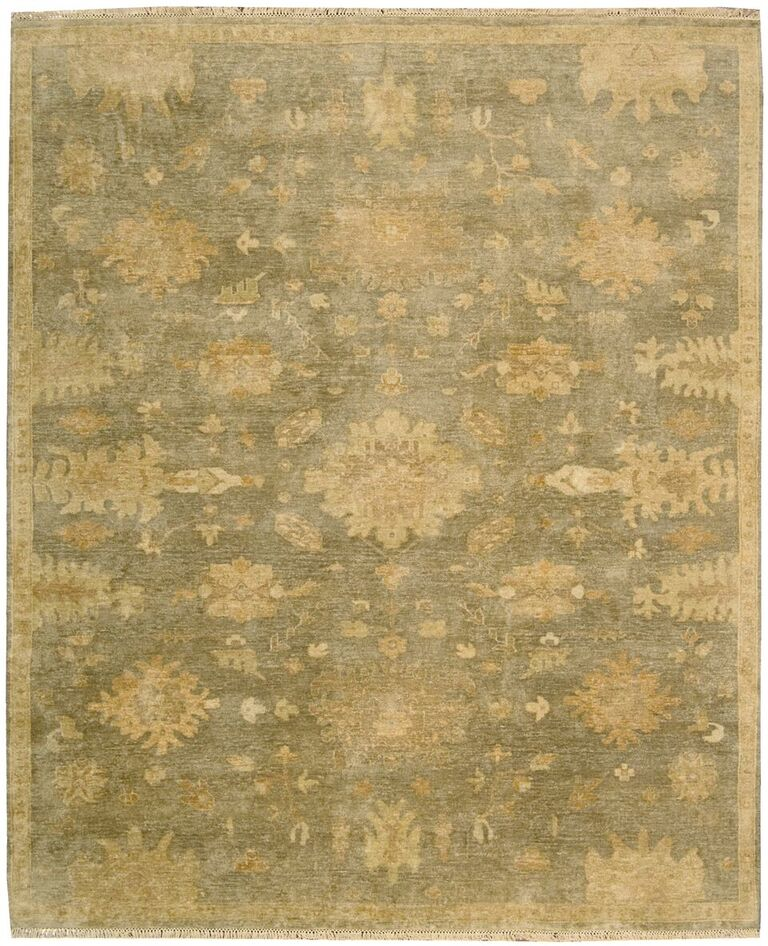 Grand Estate Hand Knotted Sage Area Rugs