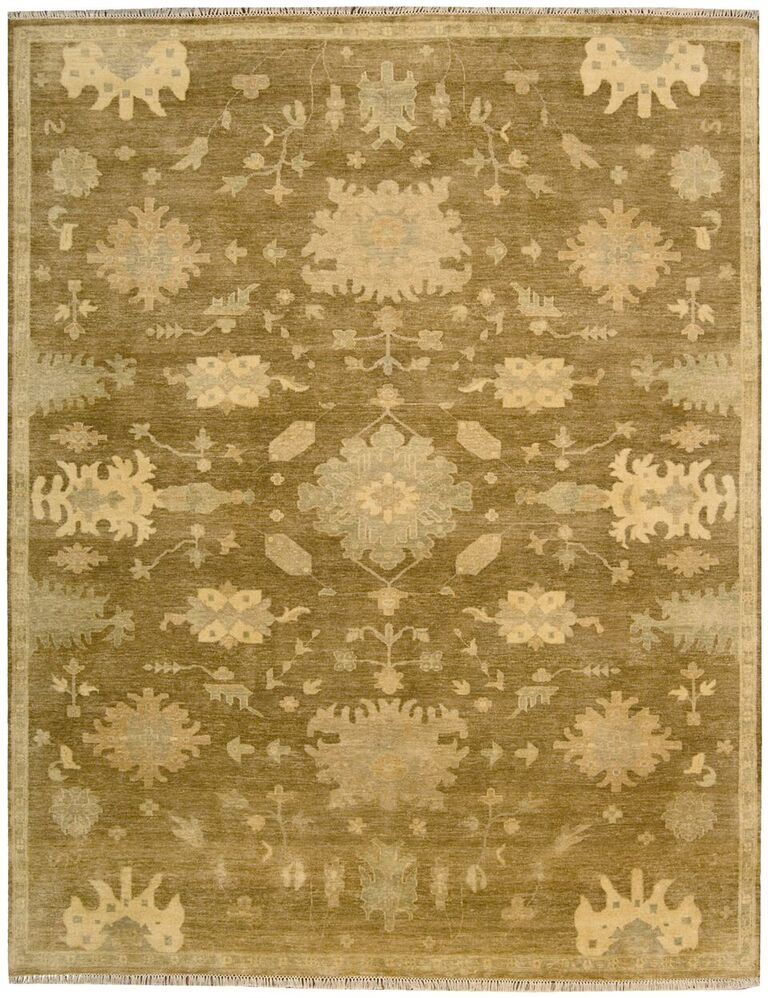 Grand Estate Hand Knotted Tobacco Area Rugs