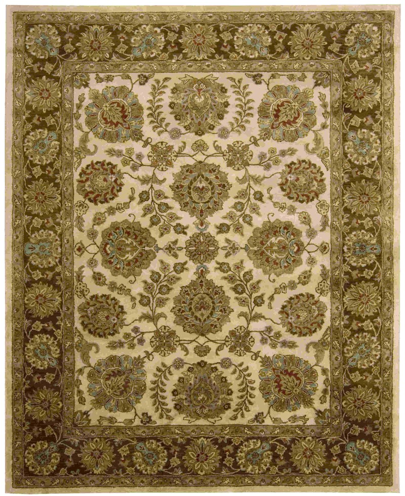 Jaipur Hand Tufted Ivory Brown Area Rugs