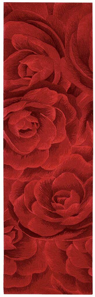 Moda Hand Tufted Crimson Area Rugs
