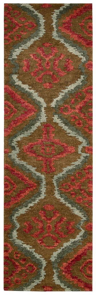 Tahoe Modern Hand Knotted Brown Red Area Rugs