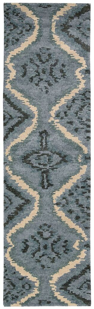 Tahoe Modern Hand Knotted Denim Blue Area Rugs