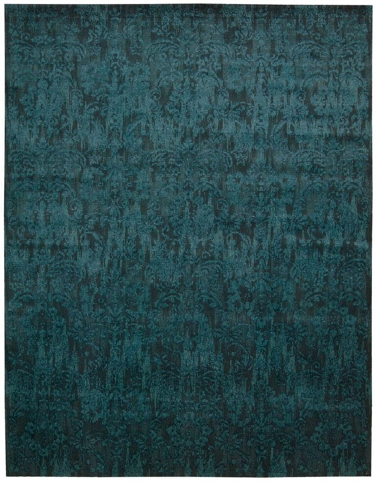 Nightfall Machine Woven Peacock Area Rugs