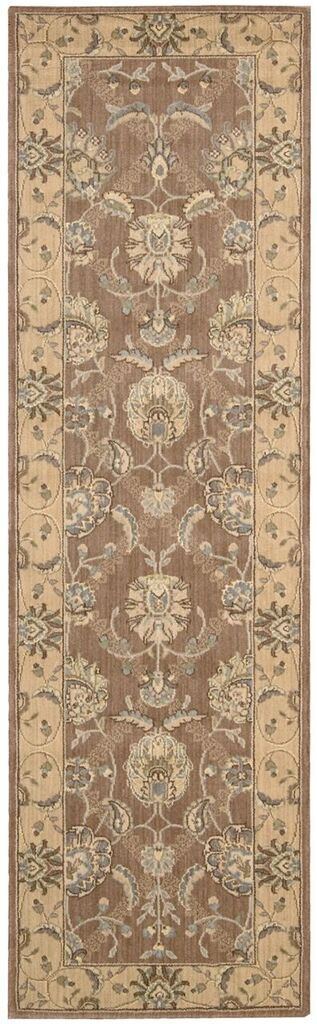 Persian Empire Machine Woven Mocha Area Rugs