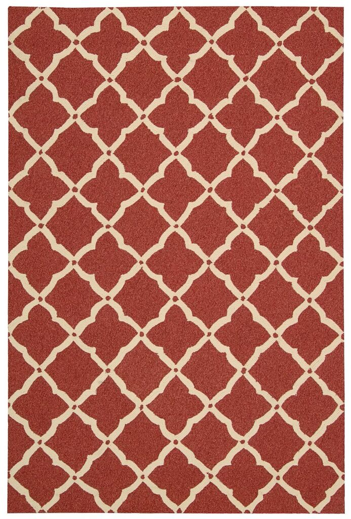 Portico Hand Tufted Red Area Rugs