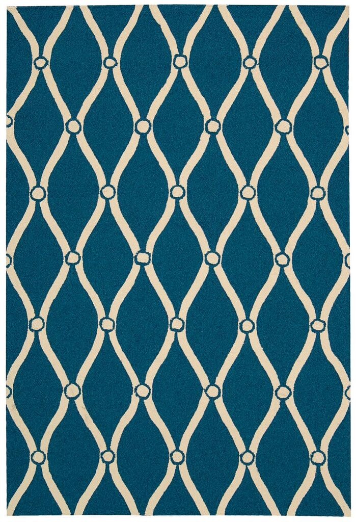 Portico Hand Tufted Navy Area Rugs