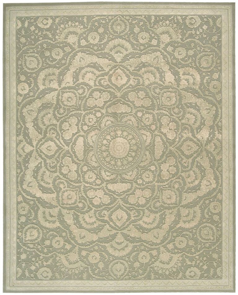 Regal Hand Tufted Green Area Rugs
