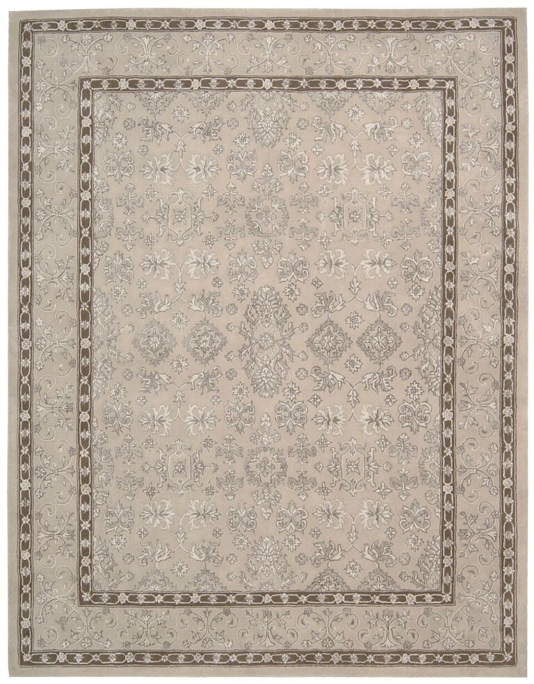 Regal Hand Tufted Taupe Area Rugs