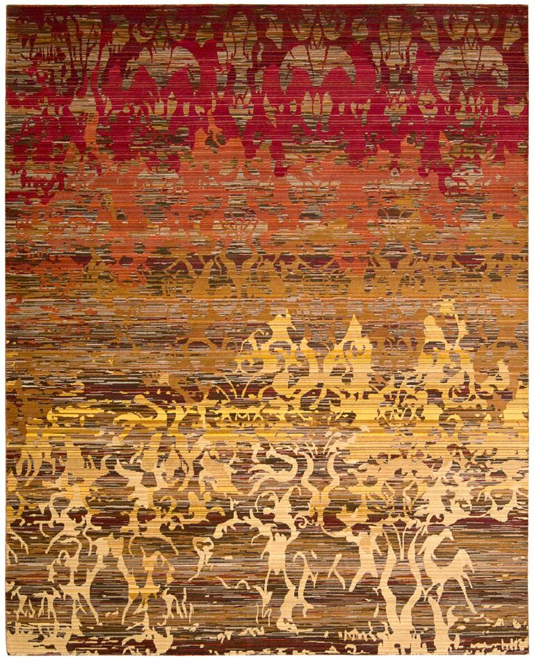 Rhapsody Machine Woven Sunrise Area Rugs