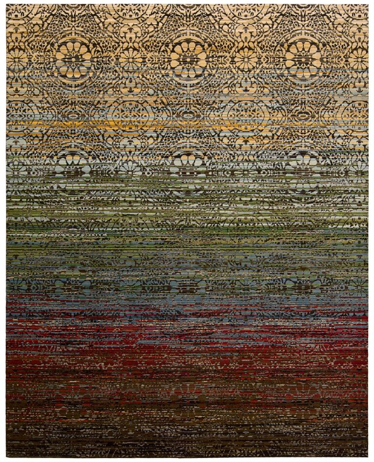 Rhapsody Machine Woven Multicolor Area Rugs