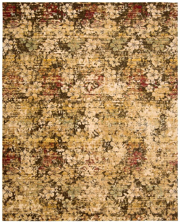 Rhapsody Machine Woven Beige Gold Area Rugs