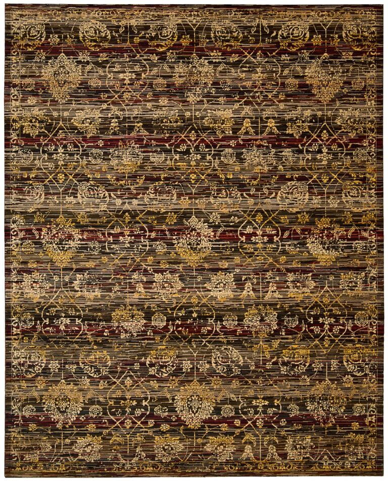 Rhapsody Machine Woven Ebony Area Rugs
