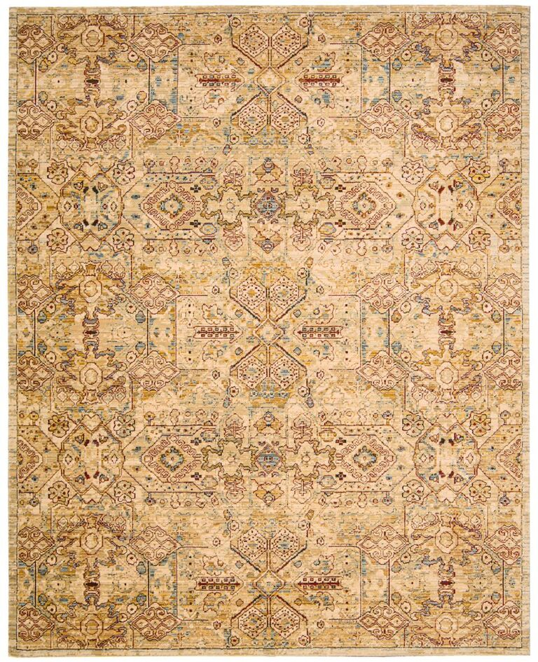 Rhapsody Machine Woven Light Gold Area Rugs
