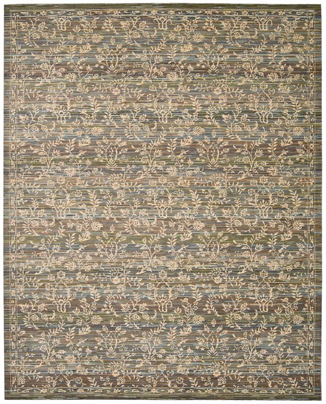 Rhapsody Machine Woven Blue Moss Area Rugs