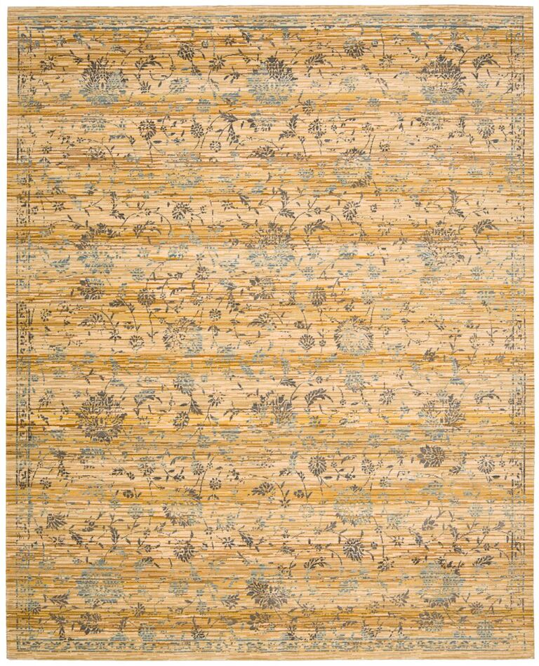Rhapsody Machine Woven Caramel Cream Area Rugs