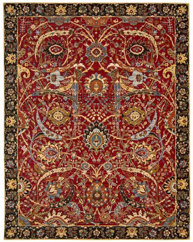 Rhapsody Machine Woven Red Area Rugs