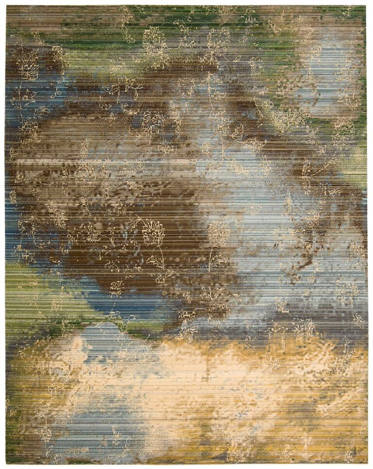 Rhapsody Machine Woven Ocean Area Rugs