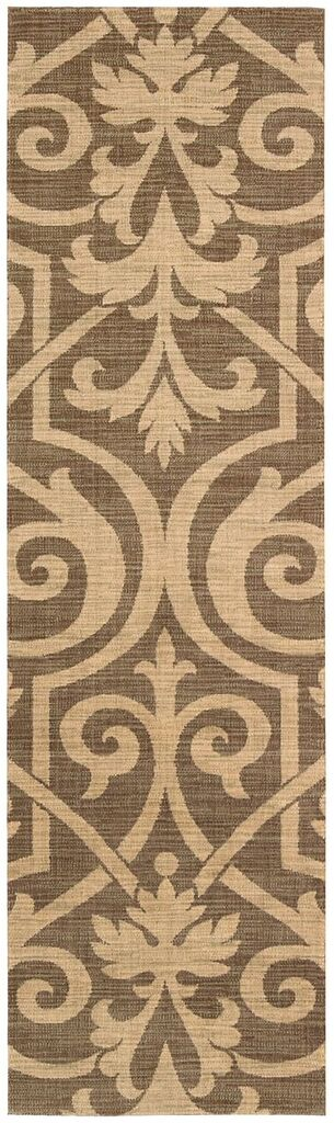 Riviera Machine Woven Mocha Area Rugs