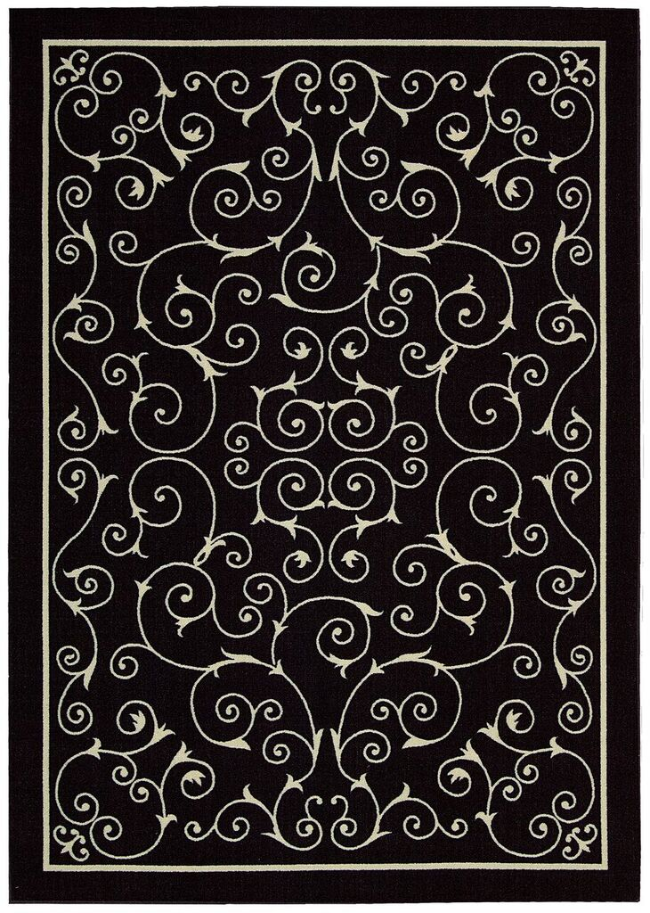Home & Garden Machine Printed Black Area Rugs