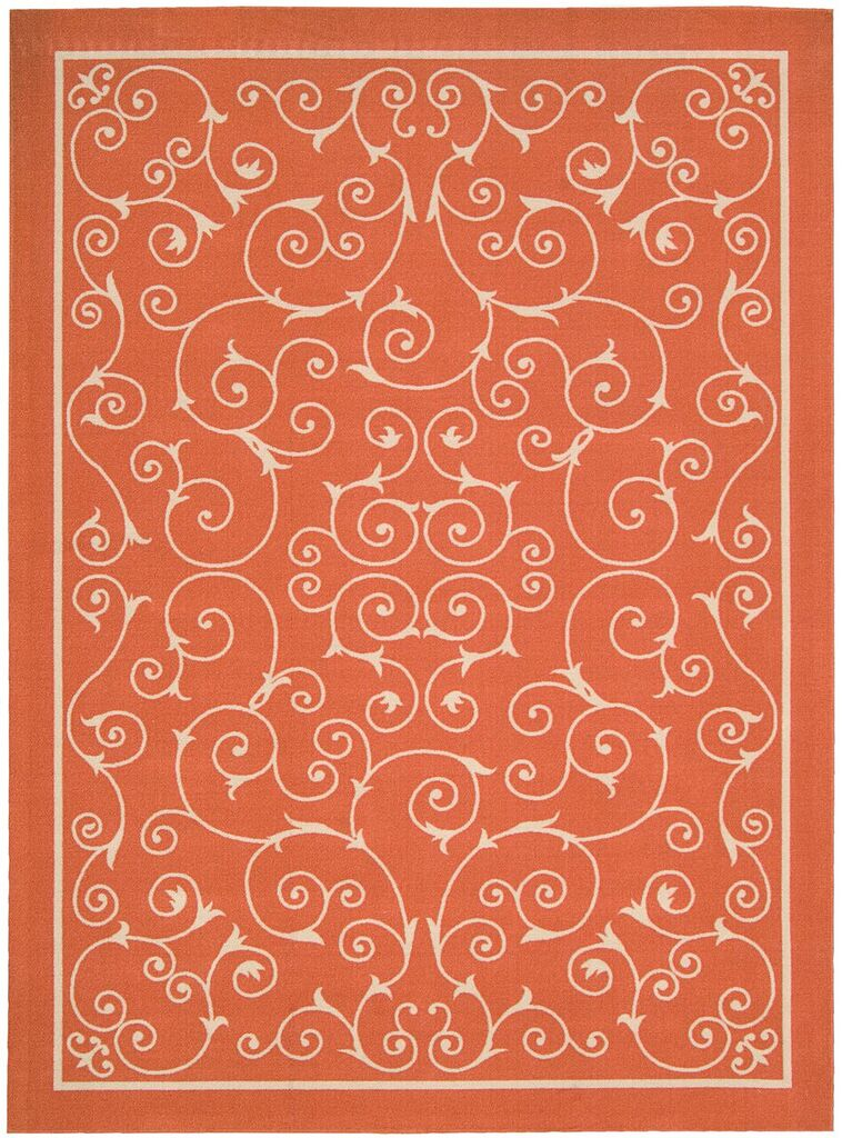Home & Garden Machine Printed Orange Area Rugs