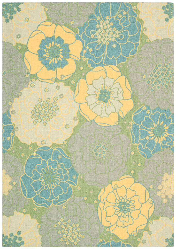 Home & Garden Machine Printed Green Area Rugs