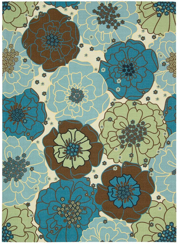 Home & Garden Machine Printed Light Blue Area Rugs