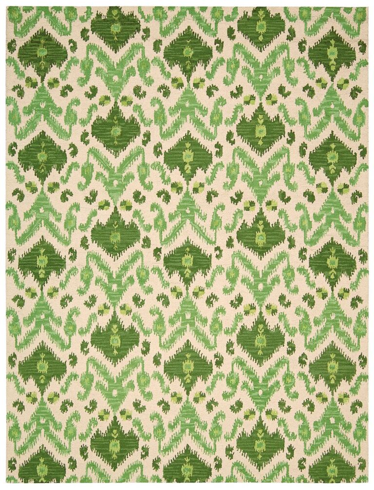 Siam Hand Tufted Ivory Green Area Rugs