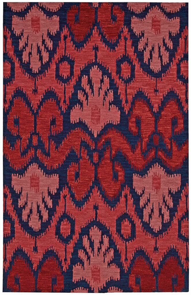 Siam Hand Tufted Navy Red Area Rugs