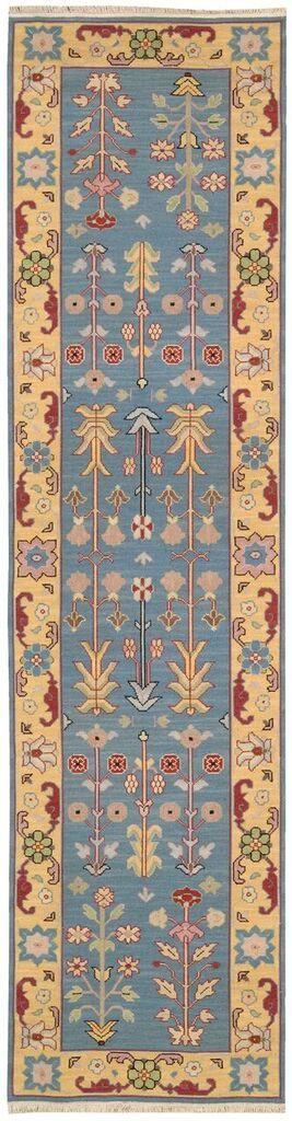 Nourmak Hand Woven Blue Area Rugs