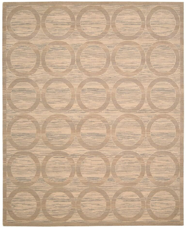 Silken Allure Machine Woven Sand Area Rugs
