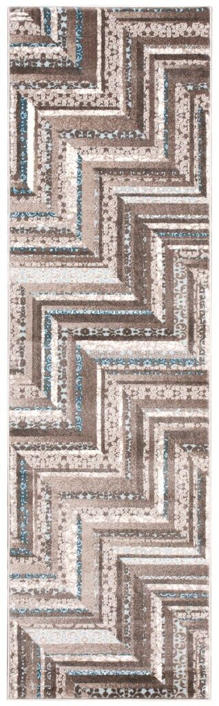 Soho Machine Woven Mocha Blue Area Rugs