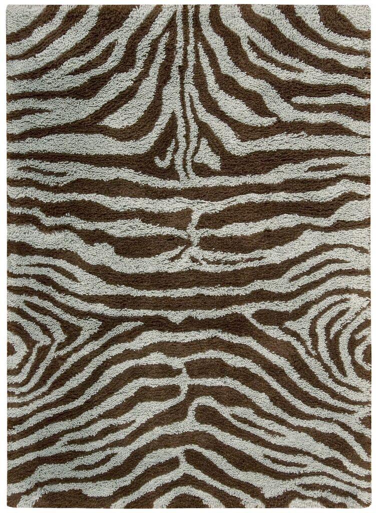 Splendor Hand Tufted Aqua Brown Area Rugs