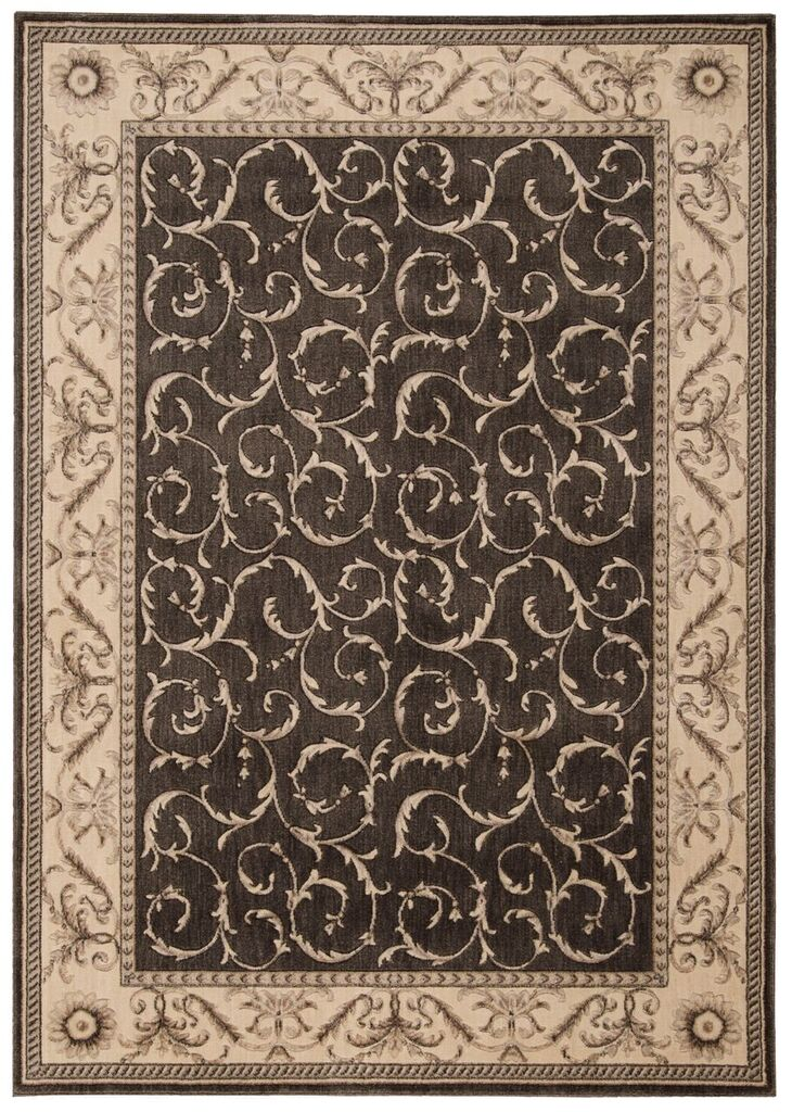 Somerset Machine Woven Charcoal Area Rugs