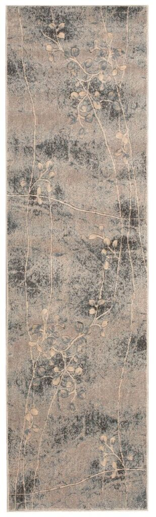 Somerset Machine Woven Silver Blue Area Rugs