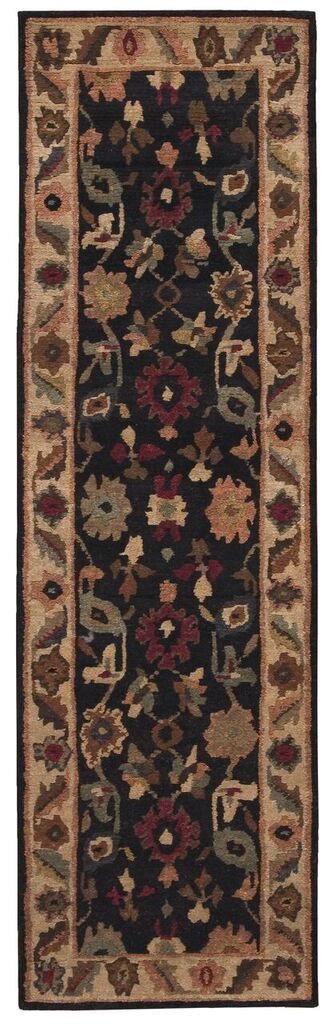 Tahoe Hand Knotted Black Area Rugs