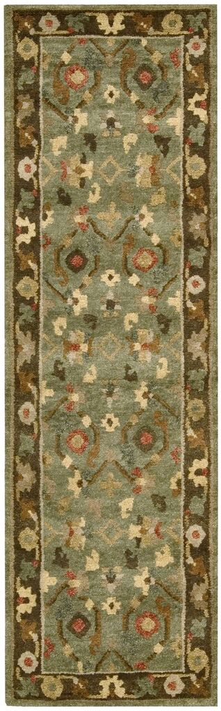 Tahoe Hand Knotted Green Area Rugs