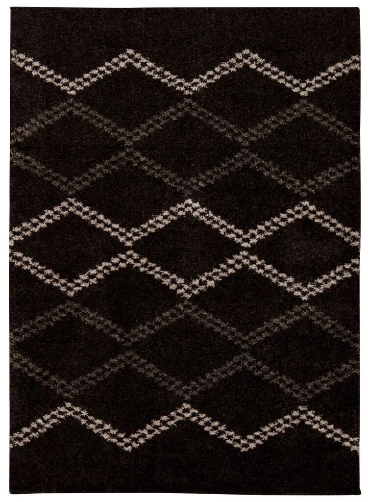 Tangier Machine Woven Black Area Rugs