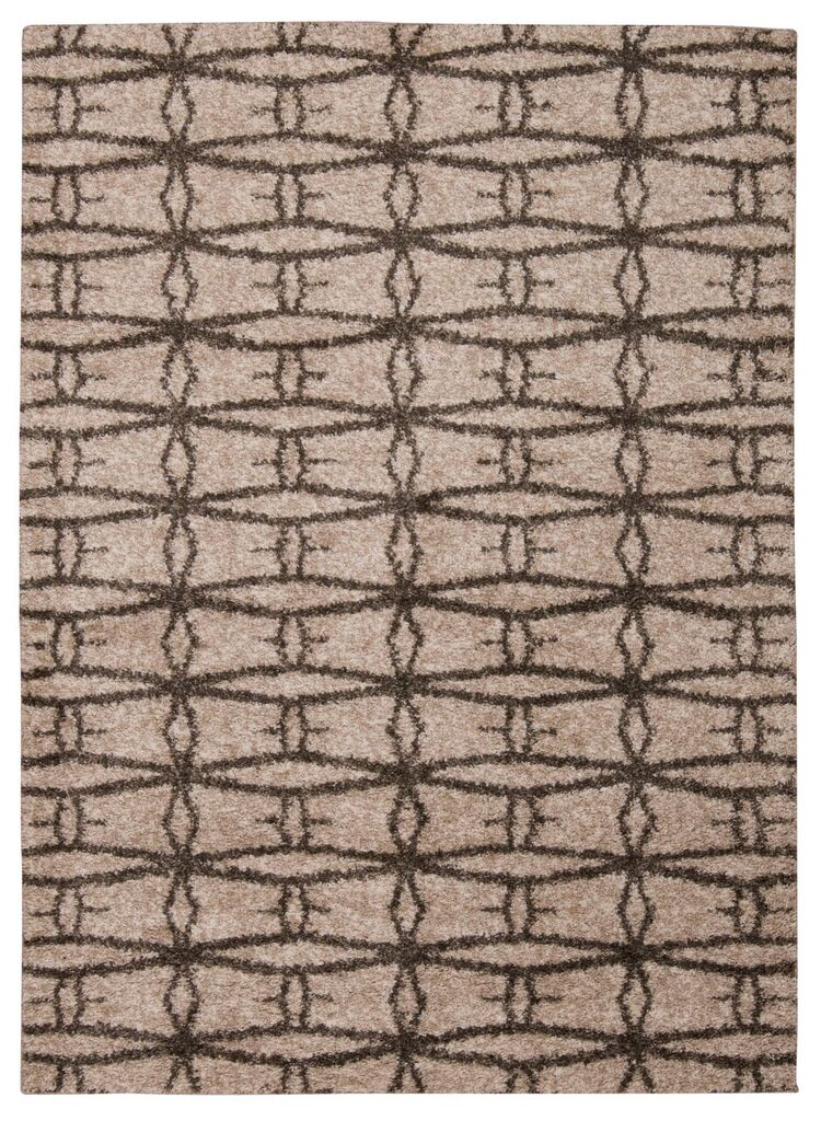 Tangier Machine Woven Cream Area Rugs