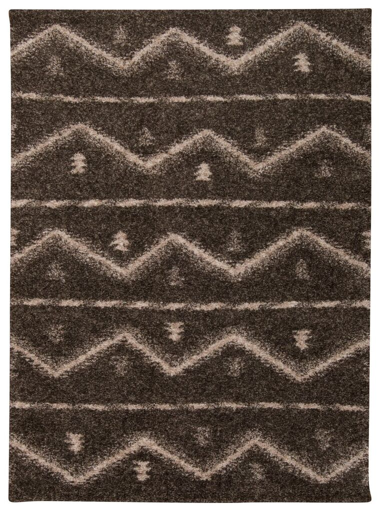 Tangier Machine Woven Grey Area Rugs