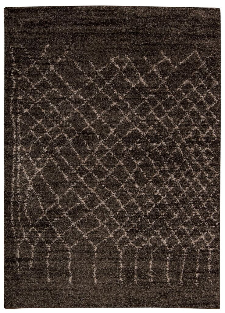 Tangier Machine Woven Charcoal Area Rugs